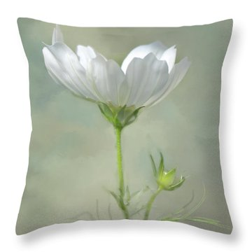 Throw Pillow featuring the photograph Solo Cosmo by Ann Bridges