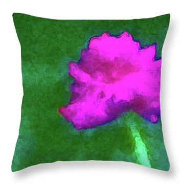 Solo Flower Throw Pillow