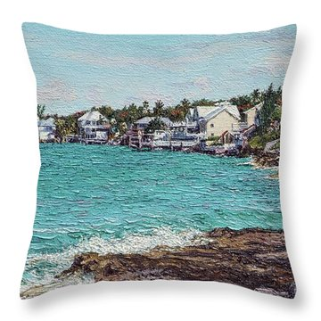 Solomons Lighthouse Throw Pillow