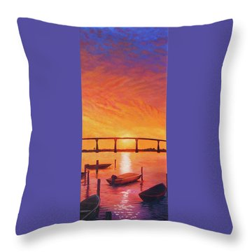 Solomons Magic Throw Pillow by Suzanne Shelden