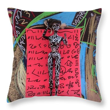 Throw Pillow featuring the painting Solomon's Seal Herbal Tincture by Clarity Artists