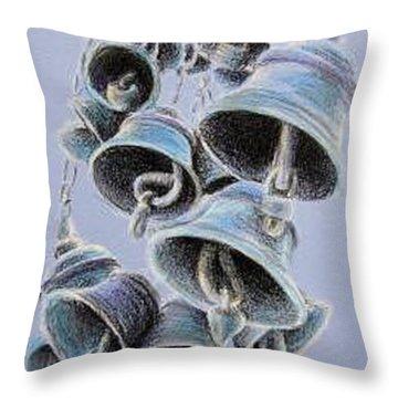Solstice Bells Throw Pillow by Michael Beckett