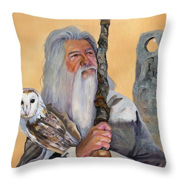 Solstice Throw Pillow by J W Baker