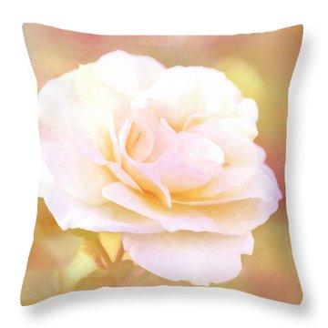 Solstice Rose Throw Pillow