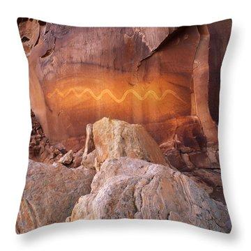 Solstice Snake Throw Pillow