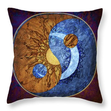 Throw Pillow featuring the digital art Soluna by Kenneth Armand Johnson