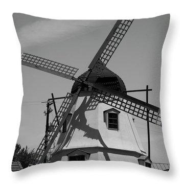 Solvang Windmill Throw Pillow