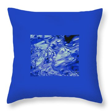 Solvent Blue Throw Pillow