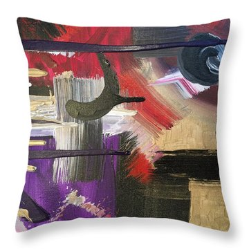 Solvent Cosmo Throw Pillow