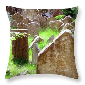 Somber Granite Throw Pillow by Patrick Murphy