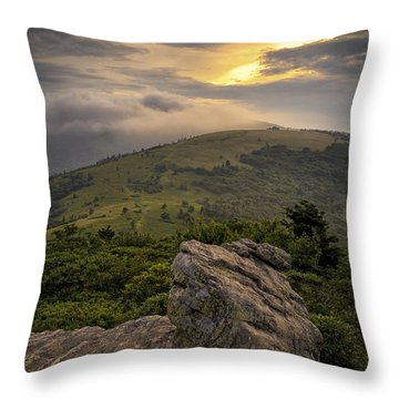 Rocky Sunset - Roan Mountain Throw Pillow