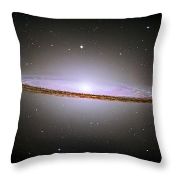 Sombrero Galaxy Throw Pillow by Nicholas Burningham