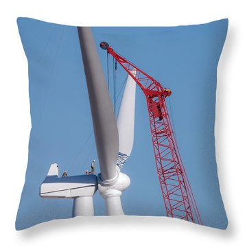 Throw Pillow featuring the photograph Some Assembly Required by Carl Young