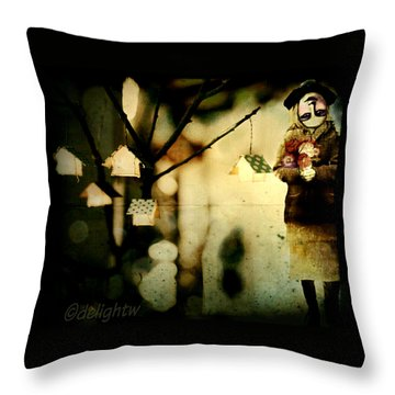 Throw Pillow featuring the digital art Some Days Are Like That by Delight Worthyn