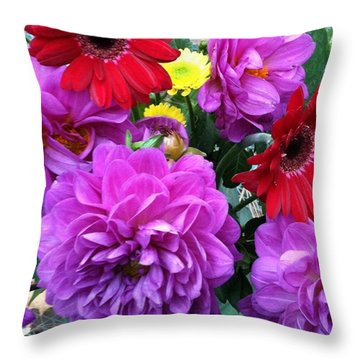 Some Fall Flowers For Inspiration! Throw Pillow