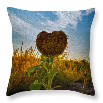 Some Flower Throw Pillow