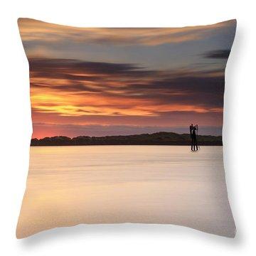 Some Glow At Sunset Throw Pillow