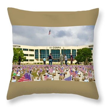 Throw Pillow featuring the photograph Some Save All - No.2015 by Joe Finney