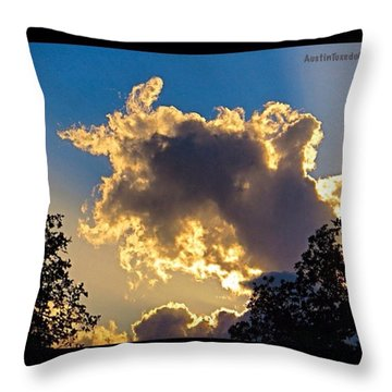 Someone In #austin Got Lots Of #rain. I Throw Pillow