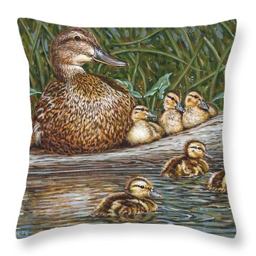 Someone To Watch Over Me Throw Pillow by Richard De Wolfe