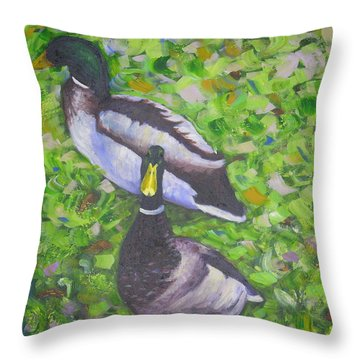Somerset Ducks Throw Pillow