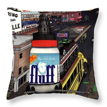 A Strange Day In Somerville  Throw Pillow