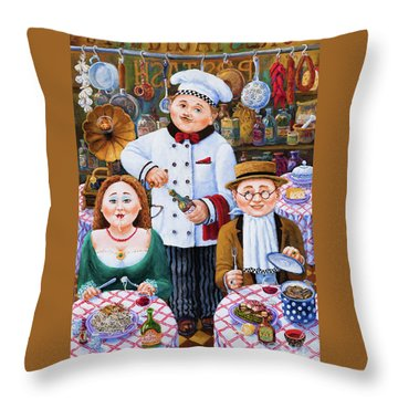Something About Food 2 Throw Pillow