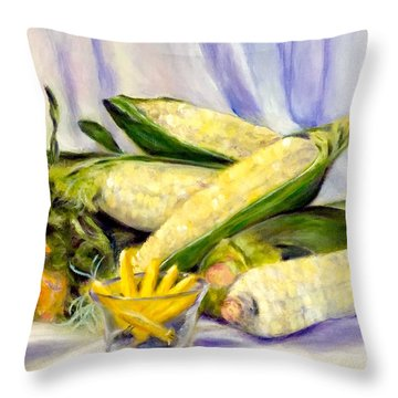Something Corny Throw Pillow