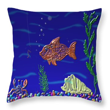 Something Fishy Throw Pillow