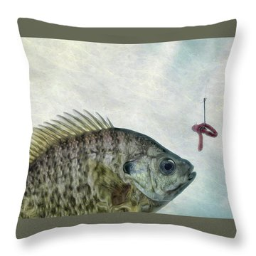 Throw Pillow featuring the photograph Something Fishy by Mark Fuller