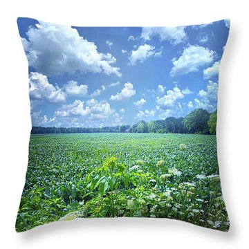 Something Good In This World Throw Pillow