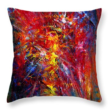 Something II Throw Pillow by Wojtek Kowalski