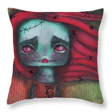 Something In The Wind Throw Pillow by Abril Andrade Griffith