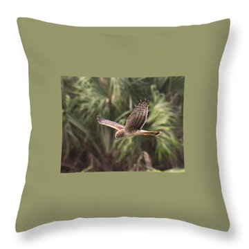 Throw Pillow featuring the photograph Something Is Down There by Sally Sperry