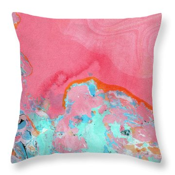 Somewhere New- Abstract Art By Linda Woods Throw Pillow