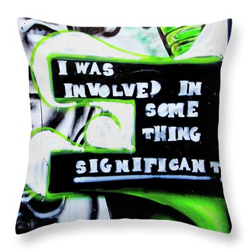 Throw Pillow featuring the photograph Something Significant by Art Block Collections