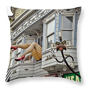Something To Find Only The In The Haight Ashbury Throw Pillow