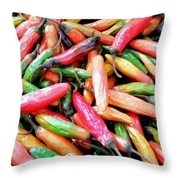 Throw Pillow featuring the photograph Something's Burning In The Kitchen by Lara Ellis