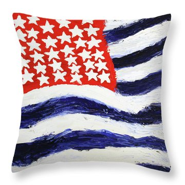 Something's Wrong With America Throw Pillow by Thomas Blood