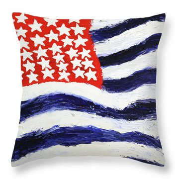 Something's Wrong With America Throw Pillow