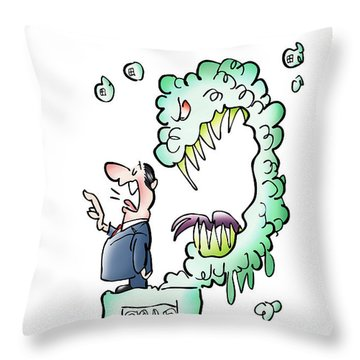 Sometimes Words Eat Us Throw Pillow