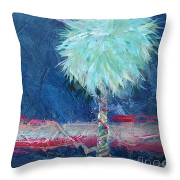 Somewhat Preppy Horizons Throw Pillow