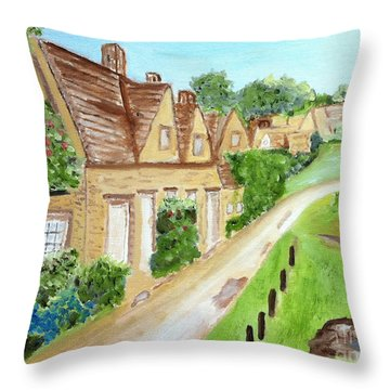 Somewhere In Cotswolds South West England Throw Pillow