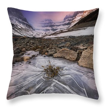 Somewhere In The Canadian Rockies Throw Pillow