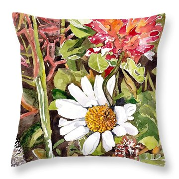 Somewhere In The Grass Throw Pillow