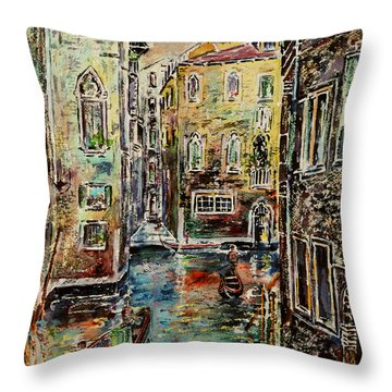 Somewhere In Venice Throw Pillow