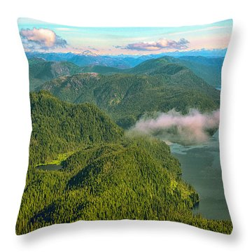 Throw Pillow featuring the photograph Over Alaska - June  by Madeline Ellis