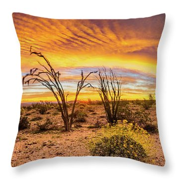 Throw Pillow featuring the photograph Somewhere Over by Peter Tellone