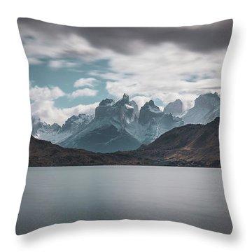 Somewhere Over The Mountain Range Throw Pillow