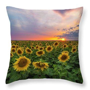 Somewhere Sunny  Throw Pillow